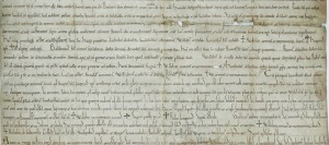 A section of the pancarte written in 1071