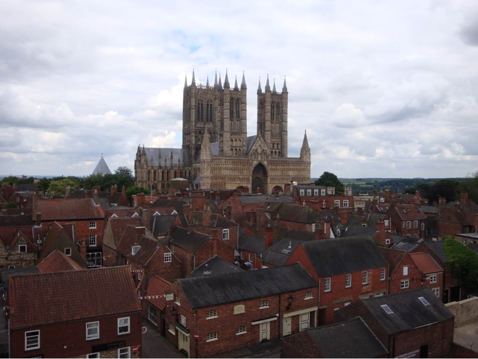 Lincoln Cathedral photographed from the wall of Lincoln Castle by Dr. Cartwright on June 13 2017