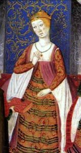 Isabel de Castilla; By Pedro Marcuello [Public domain], via Wikimedia Commons